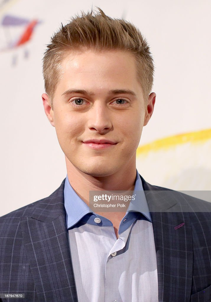 Actor Lucas Grabeel attends the 'Stand Up For Gus' Benefit at Bootsy Bellows on November 13 2013 in West Hollywood California