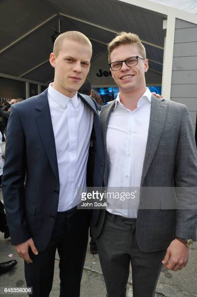 Actor Lucas Hedges and Simon Hedges visit the Jeep booth at the 2017 Film Independent Spirit Awards sponsored by Jeep at Santa Monica Pier on...