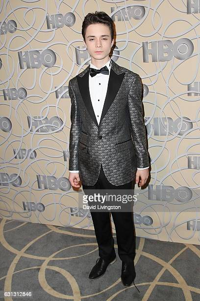 Actor Lucas Jade Zumann arrives at HBO's Official Golden Globe Awards after party at the Circa 55 Restaurant on January 8 2017 in Los Angeles...