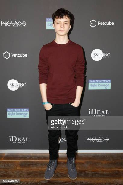 Actor Lucas Jade Zumann attends Kari Feinstein's PreOscar Style Lounge at the Andaz Hotel on February 24 2017 in Los Angeles California