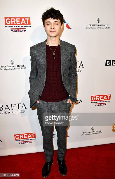 Actor Lucas Jade Zumann attends The BAFTA Tea Party at Four Seasons Hotel Los Angeles at Beverly Hills on January 7 2017 in Los Angeles California