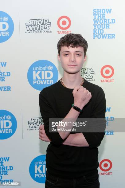 Actor Lucas Jade Zumann attends the UNICEF Kid Power Chicago Event at the Chicago Children's Museum on May 20 2017 in Chicago Illinois