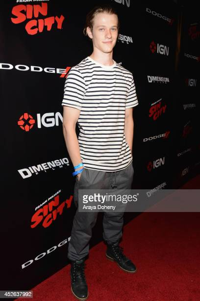 Actor Lucas Till attends IGN 'Sin City A Dame to Kill For' ComicCon International Party during ComicCon International 2014 at Hard Rock Hotel San...