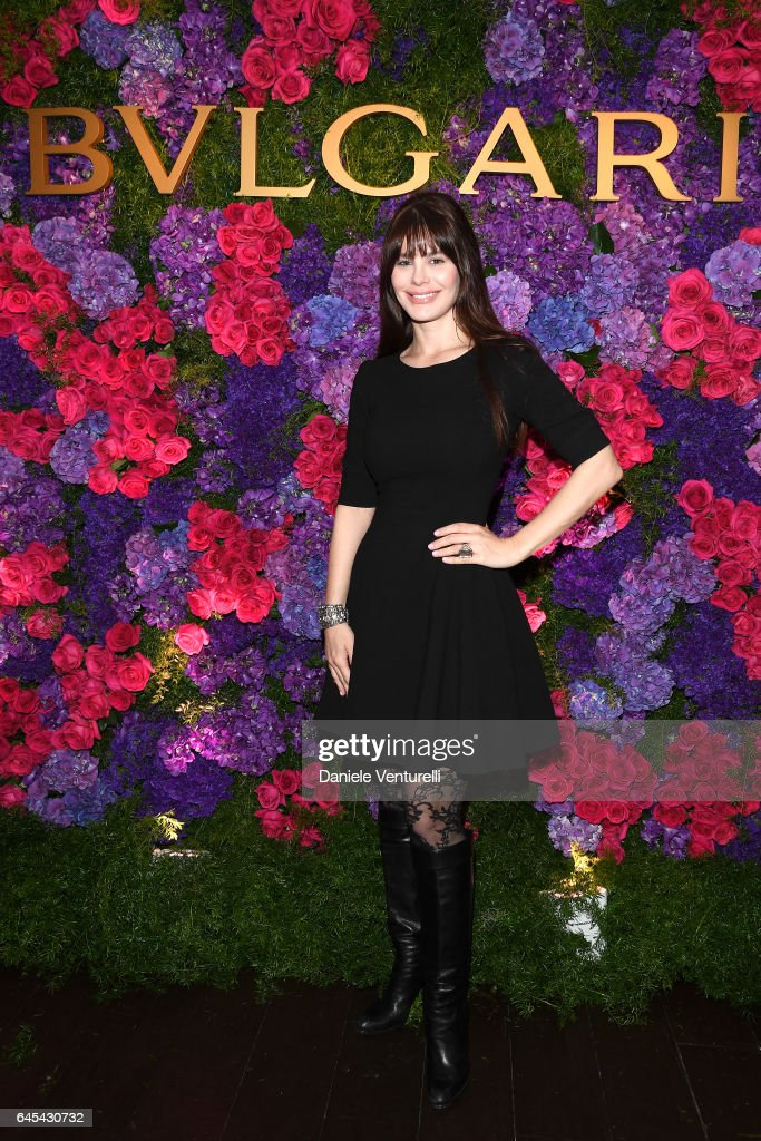 Actor Lucila Sola attends Bulgari's Pre-Oscar Dinner at Chateau Marmont on February 25, 2017 in Hollywood, United States.