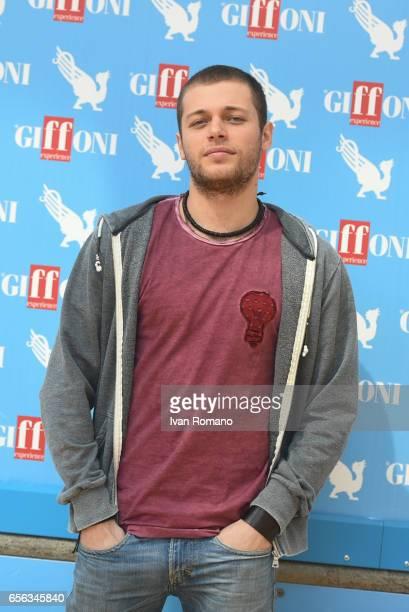 Actor Ludovico Tersigni attends a photocall after the movie preview of 'Slam Tutto per una ragazza' at the Cittadella del Cinema on March 21 2017 in...