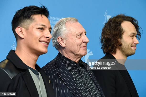 Actor Luis Alberti director Peter Greenaway and actor Elmer Back attend the 'Eisenstein in Guanajuato' photocall during the 65th Berlinale...