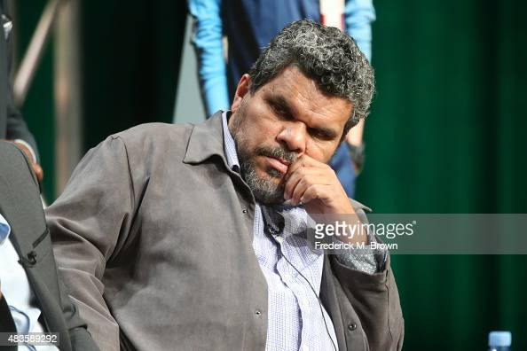 Actor Luis Guzman speaks onstage during the 'Code Black' panel discussion at the CBS portion of the 2015 Summer TCA Tour at The Beverly Hilton Hotel...