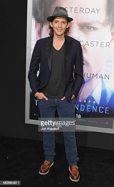 Actor Lukas Haas arrives at the Los Angeles premiere 'Transcendence' at Regency Village Theatre on April 10 2014 in Westwood California