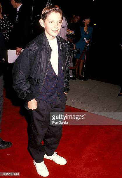Actor Lukas Haas attends the 'Music Box' Beverly Hills Premiere on December 8 1989 at the Academy of Motion Picture Arts Sciences in Beverly Hills...