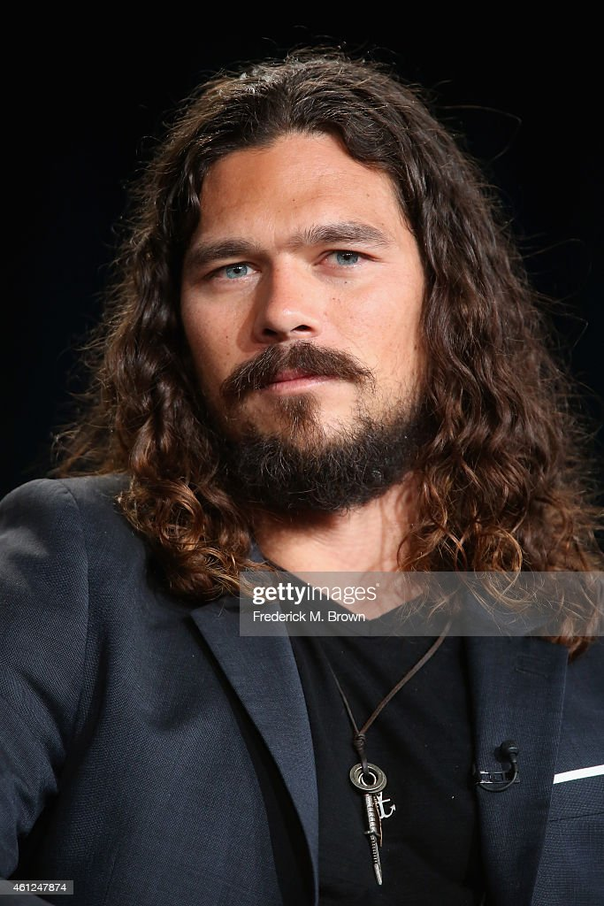 Actor <a gi-track='captionPersonalityLinkClicked' href=/galleries/search?phrase=Luke+Arnold&family=editorial&specificpeople=5991385 ng-click='$event.stopPropagation()'>Luke Arnold</a> speaks onstage during the 'Black Sails' panel at the Starz Network portion of the 2015 Winter Television Critics Association press tour at the Langham Hotel on January 9, 2015 in Pasadena, California.