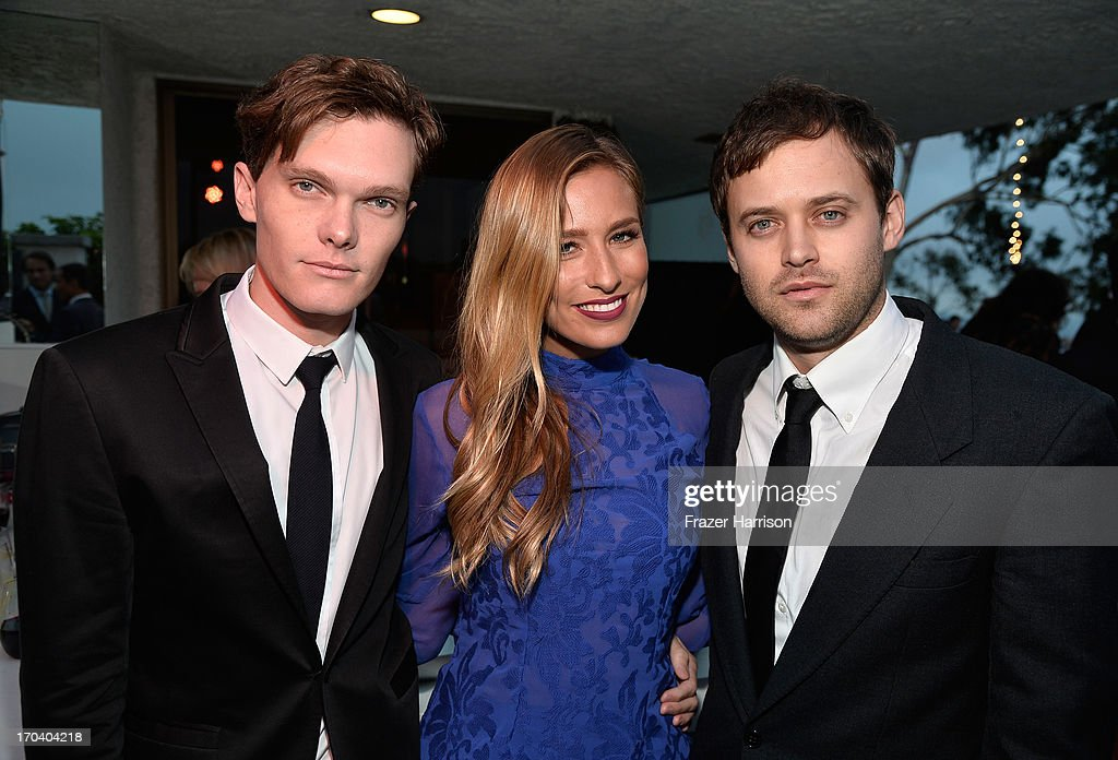 Actor Luke Baines, Australian television personality Renee Bargh and actor Oliver Ackland attend the Australians In Film and Heath Ledger Scholarship Host 5th Anniversary Benefit Dinner on June 12, 2013 in Los Angeles, California.