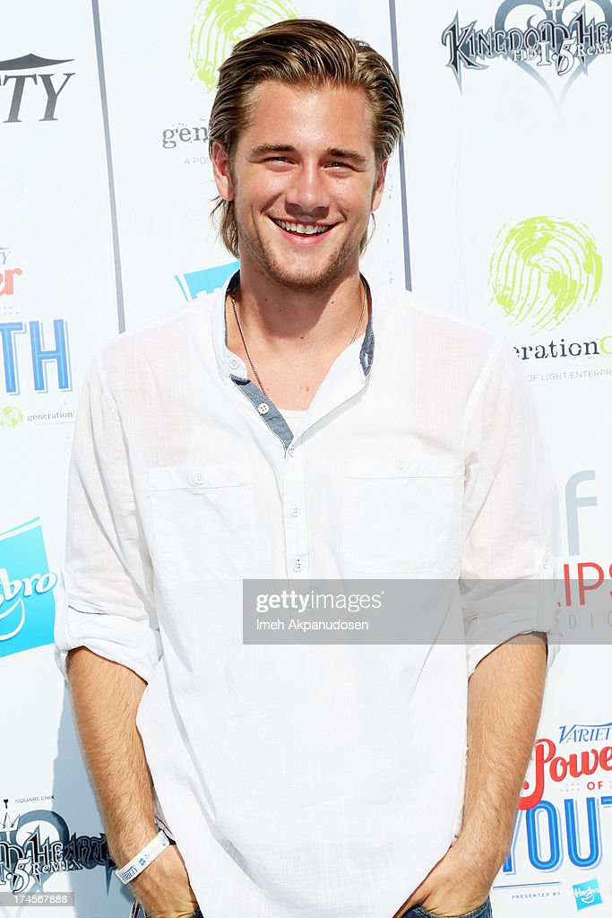 Actor <a gi-track='captionPersonalityLinkClicked' href=/galleries/search?phrase=Luke+Benward&family=editorial&specificpeople=3938473 ng-click='$event.stopPropagation()'>Luke Benward</a> attends Variety's Power of Youth presented by Hasbro, Inc. and generationOn at Universal Studios Backlot on July 27, 2013 in Universal City, California.