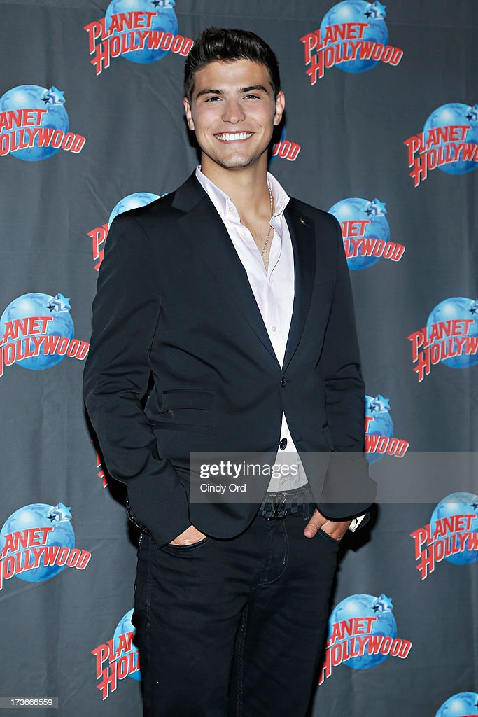 Actor Luke Bilyk visits Planet Hollywood Times Square on July 16, 2013 in New York City.