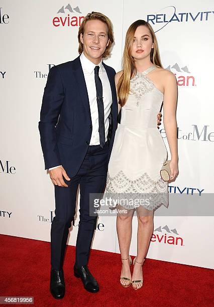 Actor Luke Bracey and actress Liana Liberato attend the premiere of 'The Best Of Me' at Regal Cinemas LA Live on October 7 2014 in Los Angeles...