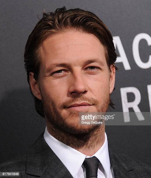 Actor Luke Bracey arrives at the screening of Summit Entertainment's 'Hacksaw Ridge' at Samuel Goldwyn Theater on October 24 2016 in Beverly Hills...