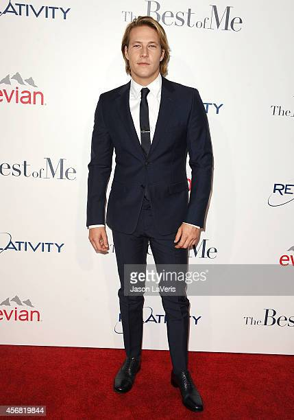 Actor Luke Bracey attends the premiere of 'The Best Of Me' at Regal Cinemas LA Live on October 7 2014 in Los Angeles California