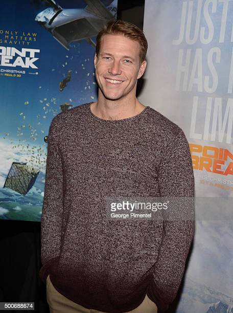 Actor Luke Bracey from the film 'Point Break' surprises Canadian fans at the Toronto advance screening held at Cineplex Odeon Yonge Dundas Cinemas on...