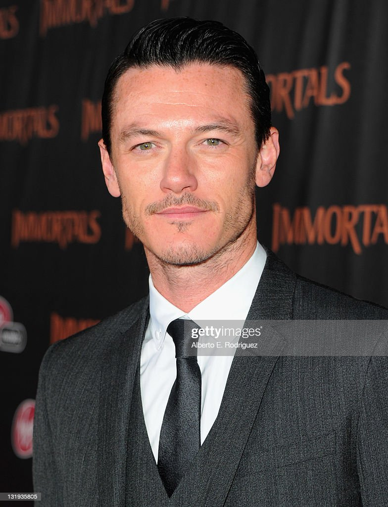 Actor Luke Evans arrives at Relativity Media's 'Immortals' premiere presented in RealD 3 at Nokia Theatre L.A. Live at Nokia Theatre L.A. Live on November 7, 2011 in Los Angeles, California.