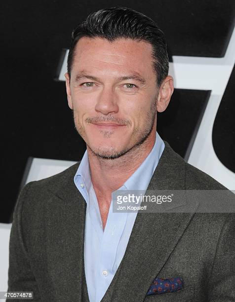 Actor Luke Evans arrives at the Los Angeles Premiere 'Furious 7' at TCL Chinese Theatre IMAX on April 1 2015 in Hollywood California
