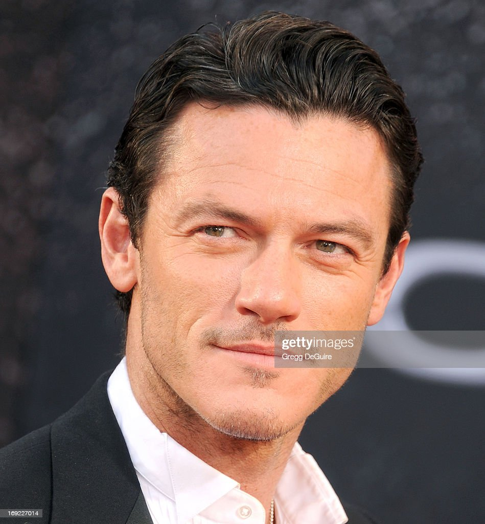 Actor Luke Evans arrives at the Los Angeles premiere of 'Fast & The Furious 6' at Gibson Amphitheatre on May 21, 2013 in Universal City, California.