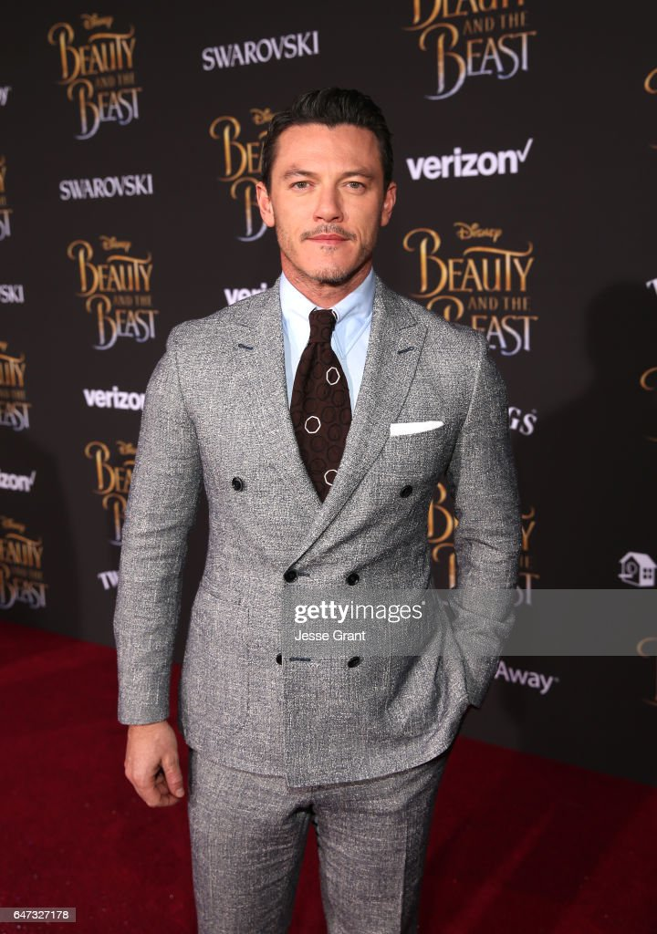Actor Luke Evans arrives for the world premiere of Disney's live-action 'Beauty and the Beast' at the El Capitan Theatre in Hollywood as the cast and filmmakers continue their worldwide publicity tour on March 2, 2017 in Los Angeles, California.