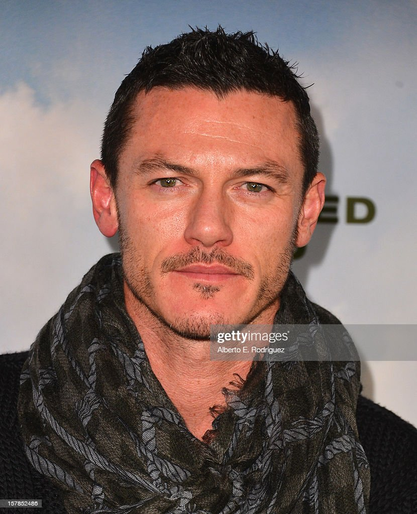 Actor Luke Evans arrives to the premiere of Focus Features' 'Promised Land' at the Directors Guild Of America on December 6, 2012 in Los Angeles, California.