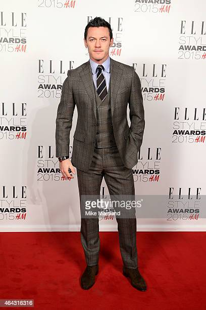 Actor Luke Evans attends the Elle Style Awards 2015 at Sky Garden @ The Walkie Talkie Tower on February 24 2015 in London England