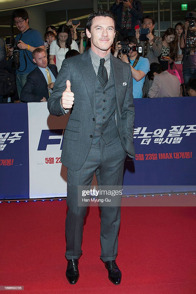 Actor Luke Evans attends the 'Fast & Furious 6' South Korea Premiere on May 13, 2013 in Seoul, South Korea. Luke Evans is visiting South Korea to promote her recent film 'Fast & Furious 6' which will be released in South Korea on May 23.