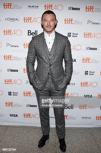 Actor Luke Evans attends the 'HighRise' premiere during the 2015 Toronto International Film Festival at The Elgin on September 13 2015 in Toronto...