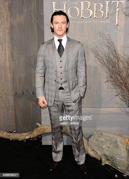 Actor Luke Evans attends the premiere of 'The Hobbit The Desolation Of Smaug' at TCL Chinese Theatre on December 2 2013 in Hollywood California