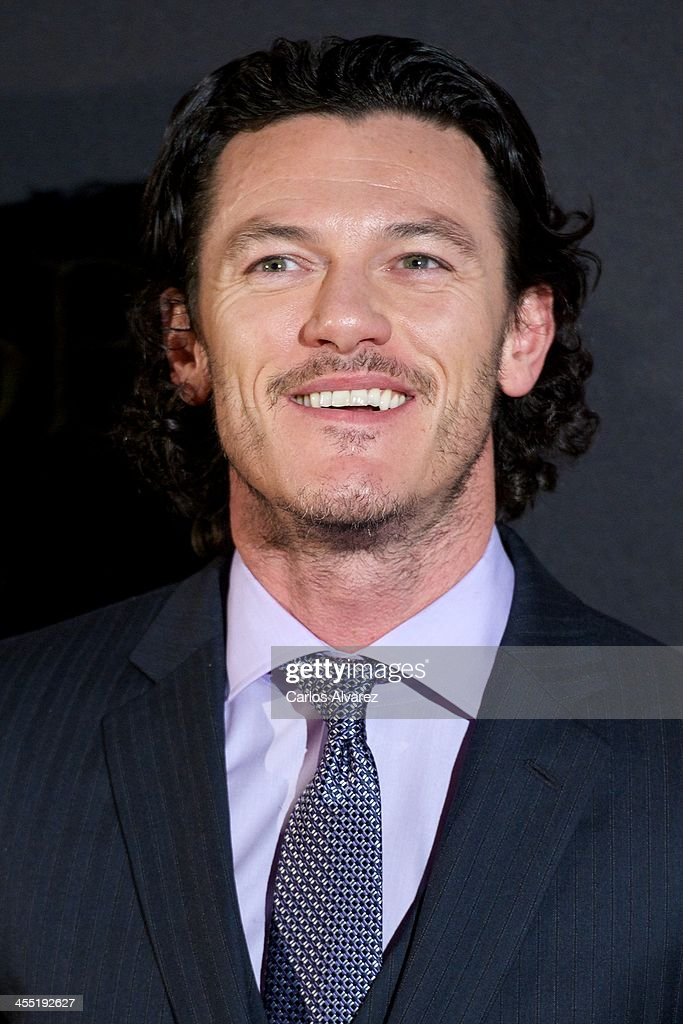 Actor Luke Evans attends the 'The Hobbit: The Desolation of Smaug' (El Hobbit: La desolacion De Smaug) premiere at the Kinepolis cinema on December 11, 2013 in Madrid, Spain.