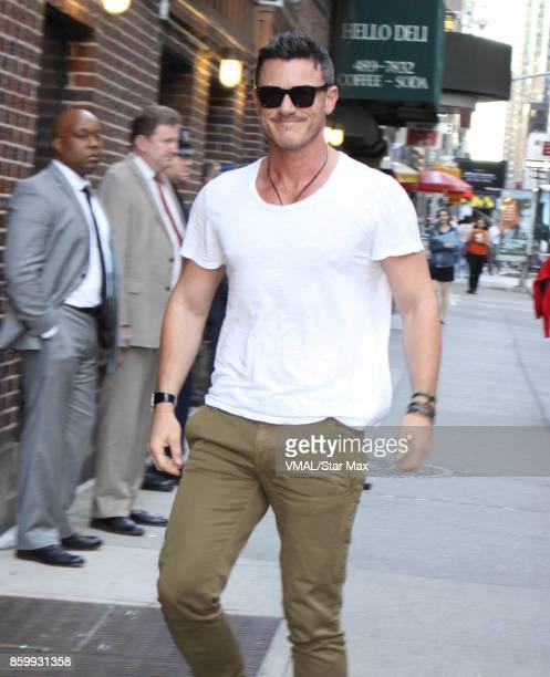 Actor Luke Evans is seen on October 10 2017 in New York City