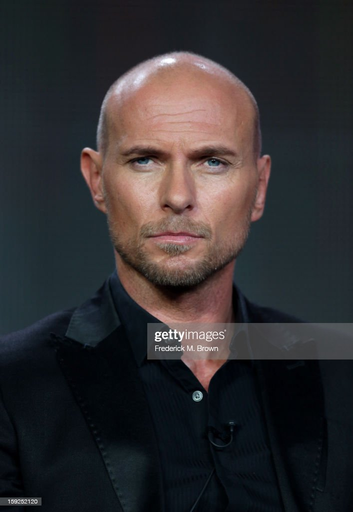Actor Luke Goss of 'Red Widow' looks on onstage during the ABC portion of the 2013 Winter TCA Tour at Langham Hotel on January 10, 2013 in Pasadena, California.