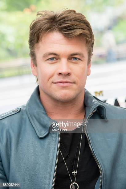 Actor Luke Hemsworth and Old Spice team up to teach guys how to get a HAIR of Confidence at Made Man Barber Shop on May 11 2017 in New York City