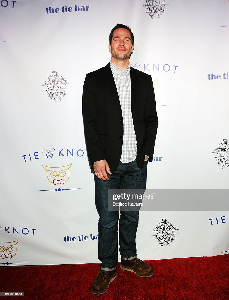 Actor <a gi-track='captionPersonalityLinkClicked' href=/galleries/search?phrase=Luke+Macfarlane&family=editorial&specificpeople=2303762 ng-click='$event.stopPropagation()'>Luke Macfarlane</a> attends Tie The Knot NYC at Avenue on February 27, 2013 in New York City.