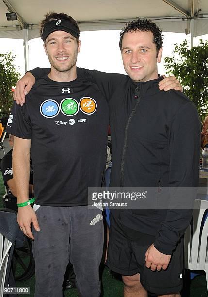 Actor Luke McFarlane and actor Matthew Rhys attend the 23rd Annual Nautica Malibu Triathalon at Zuma Beach on September 13 2009 in Malibu California