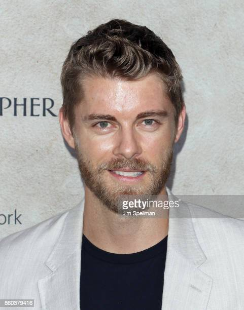 Actor Luke Mitchell attends the 'Good Bye Christopher Robin' New York special screening at The New York Public Library on October 11 2017 in New York...
