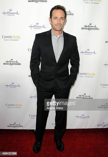 Actor Luke Perry arrives at Hallmark Channel's annual holiday event premiere screening of 'Northpole' at La Piazza Restaurant on November 4 2014 in...