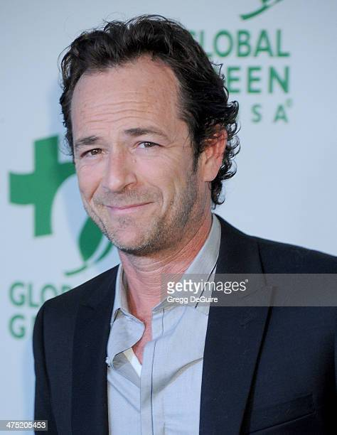 Actor Luke Perry arrives at the Global Green USA's 11th Annual PreOscar Party at Avalon on February 26 2014 in Hollywood California