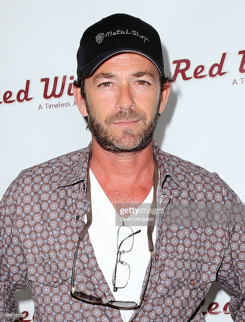 Actor <a gi-track='captionPersonalityLinkClicked' href=/galleries/search?phrase=Luke+Perry&family=editorial&specificpeople=171633 ng-click='$event.stopPropagation()'>Luke Perry</a> attends a screening of Integrity Film Production's 'Red Wing' at Harmony Gold Theatre on August 6, 2013 in Los Angeles, California.
