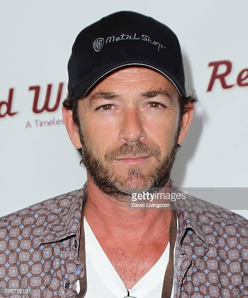 Actor Luke Perry attends a screening of Integrity Film Production's 'Red Wing' at Harmony Gold Theatre on August 6 2013 in Los Angeles California