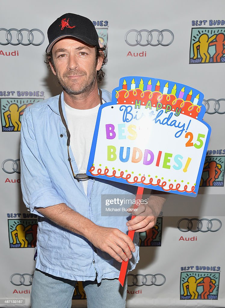 Actor <a gi-track='captionPersonalityLinkClicked' href=/galleries/search?phrase=Luke+Perry&family=editorial&specificpeople=171633 ng-click='$event.stopPropagation()'>Luke Perry</a> attends Audi Best Buddies' Bowling For Buddies at Lucky Strike Lanes at L.A. Live on April 27, 2014 in Los Angeles, California.