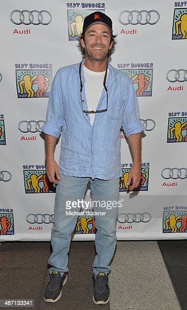 Actor Luke Perry attends Audi Best Buddies' Bowling For Buddies at Lucky Strike Lanes at LA Live on April 27 2014 in Los Angeles California