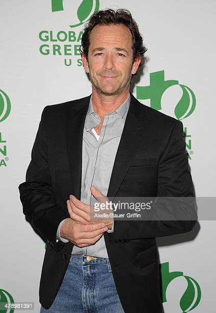 Actor Luke Perry attends Global Green USA's 11th Annual PreOscar Party at Avalon on February 26 2014 in Hollywood California