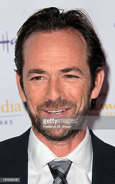 Actor Luke Perry attends Hallmark Channel and the Hallmark Movie Channel Original Movies' Winter 2012 Television Critics Association Press Evening...