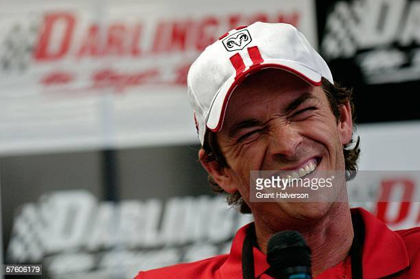 Actor Luke Perry attends the NASCAR Nextel Cup Series Dodge Charger 500 on May 13 2006 at Darlington Raceway in Darlington South Carolina