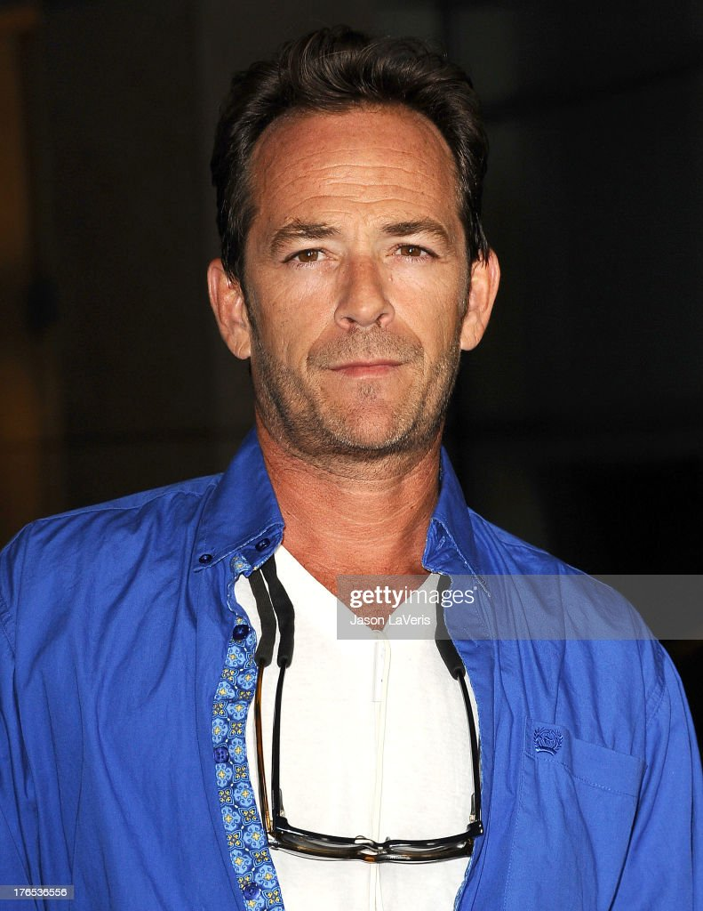 Actor <a gi-track='captionPersonalityLinkClicked' href=/galleries/search?phrase=Luke+Perry&family=editorial&specificpeople=171633 ng-click='$event.stopPropagation()'>Luke Perry</a> attends the premiere of 'Dark Tourist' at ArcLight Hollywood on August 14, 2013 in Hollywood, California.