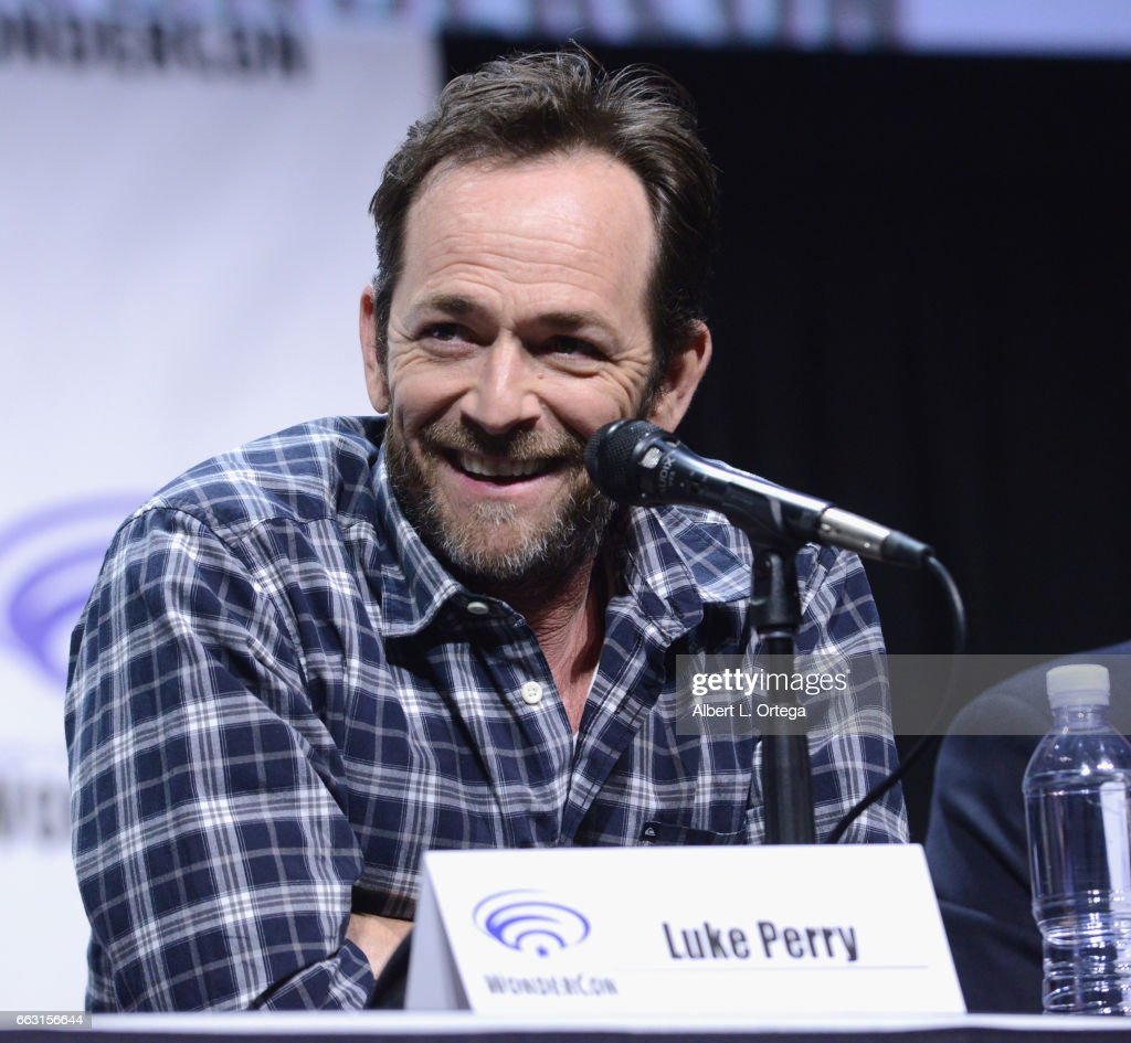 Actor Luke Perry on the 'Riverdale' panel on Day 1 of WonderCon held at Anaheim Convention Center on March 31, 2017 in Anaheim, California.