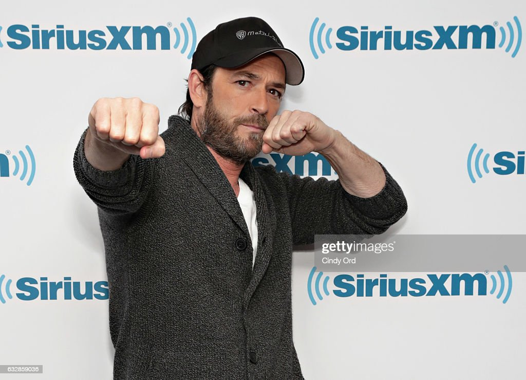 Actor Luke Perry visits the SiriusXM Studios on January 27, 2017 in New York City.