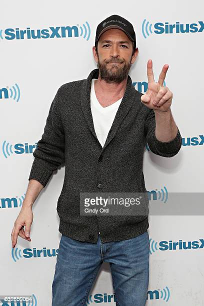 Actor Luke Perry visits the SiriusXM Studios on January 27 2017 in New York City